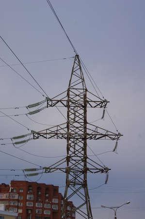 three phase: high-voltage line