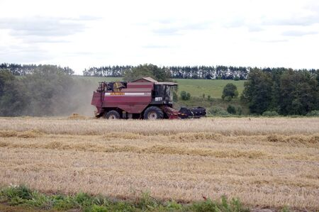 agriculture machinery: harvester