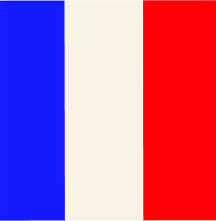 french flag: french flag Illustration