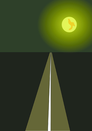 night: road, night