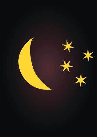 night: night, moon