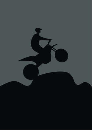adrenalin: motocross, sport Illustration