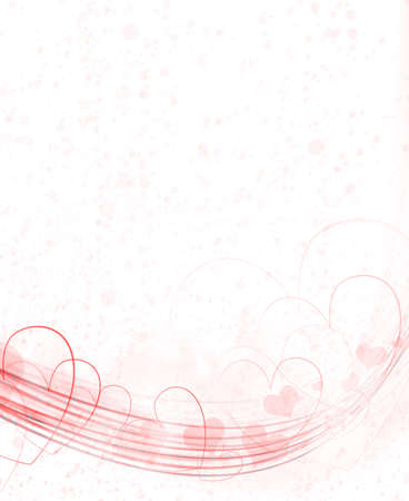 Abstract background of design in hearts, post card