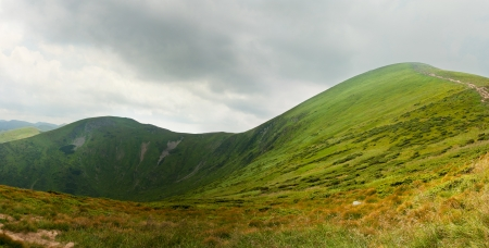 The highest mountain in Ukraine, the height of 2061 meter