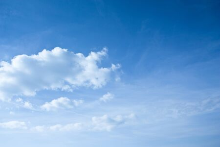 Background of the summer blue sky with clouds
