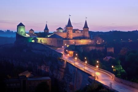 Panoramic view of medieval half-ruined castle in Kamenetz-Podolsk, Ukraine Stock Photo - 15155638