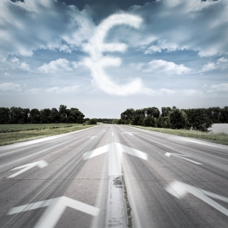The arrows point to the currency Stock Photo - 16209439
