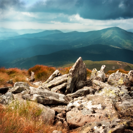 The beautiful Carpathian mountain landscape, height is 2061 meters photo
