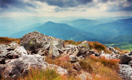 Hoverla mountain  is the highest mountain in Ukraine and part of the Carpathian Mountains photo