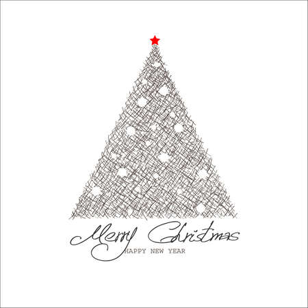 Christmas and New Year  Vector greeting card Stock Vector - 16992189