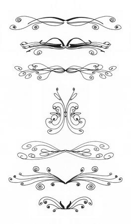 Siete elementos de diseño en un fondo blanco Foto de archivo - 17980607