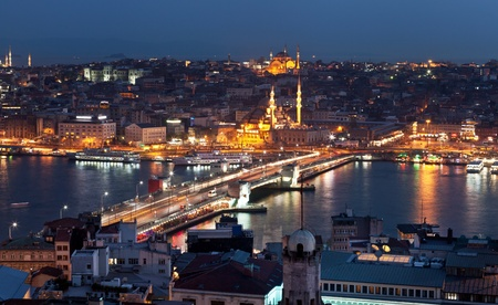 Istanbul. Galata bridge. Turkey travel background photo