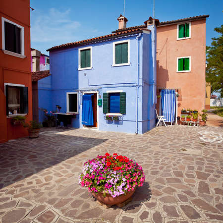 Colorful houses on the Island Burano, Italy