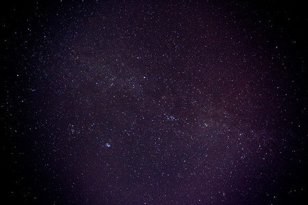 Night sky with stars and nebula. Milky Way Banque d'images