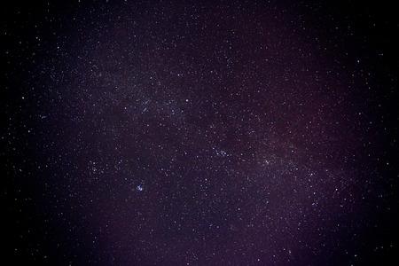 Cielo nocturno con las estrellas y nebulosas. Vía Láctea Foto de archivo - 35282016