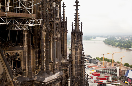 View of Cologne and the Rhine River. Germany photo