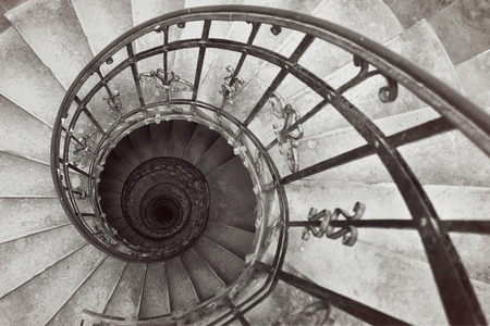 The Spiral stairs St.Stephens Basilica. Budapest, Hungary