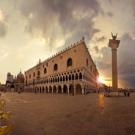 marco: Piazza San Marco at sunrise, Venice, Italy