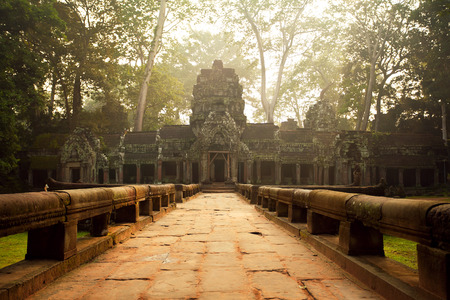 hindu temple: Ancient temples of Ta Prohm Temple, Angkor, Cambodia