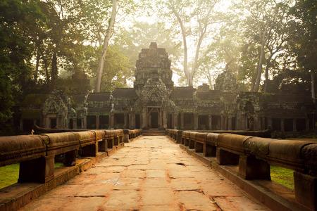 templo: Antiguos templos de Ta Prohm, Angkor, Camboya Foto de archivo