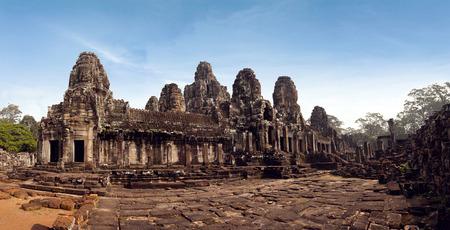 The Panorama Bayon Castle, Angkor Thom, Cambodia Stock Photo