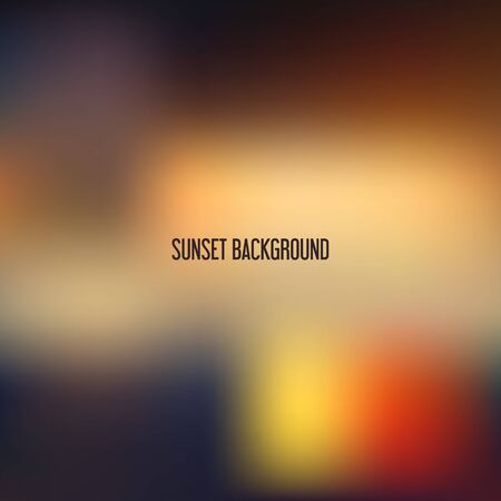 blurred: Blurred backgrounds vector. Blurred Sunset, sunrise wallpaper Illustration