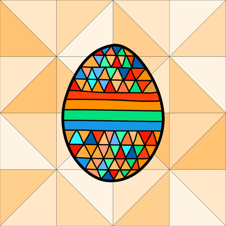 Vector illustration of Easter eggs on a geometric background Vector