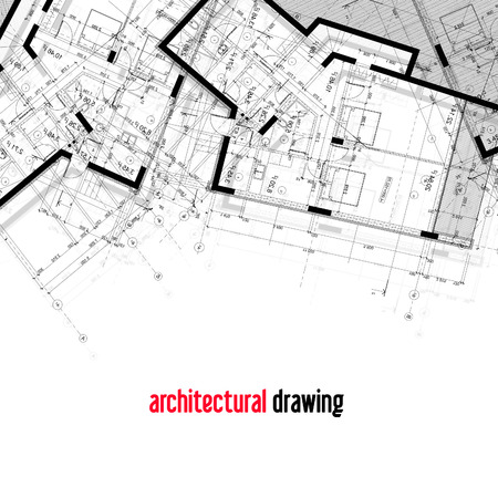 Architectural plans. Part of the architectural design of the house. 스톡 콘텐츠