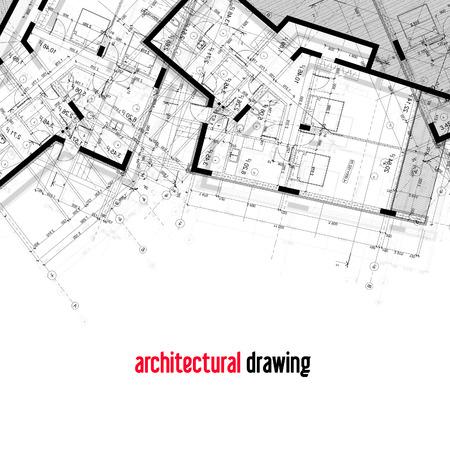 Planos arquitectonicos. Parte del diseño arquitectónico de la casa. Foto de archivo
