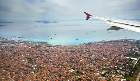 marmara: The view from the flight to Istanbul. Turkey