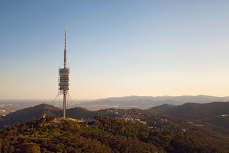 torre: Teletower Torre de Collserola in the city of Barcelona, Spain Editorial