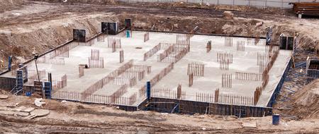 De bouw van het gebouw.