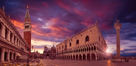 san marco: Piazza San Marco at sunrise, Venice, Italy