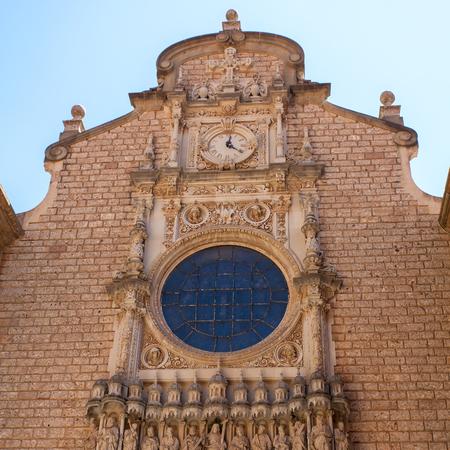 virgin of montserrat: Santa Maria de Montserrat Abbey, Monastery in Spain.