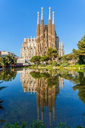 バルセロナ, スペイン - 2015 年 6 月 7 日: 聖家族贖罪寺院。カタロニア語によって大規模なローマ カトリック教会に設計されたサグラダ ・ ファミリ