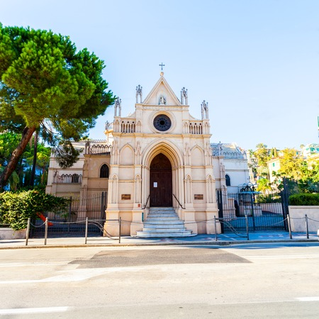 Italian Orthodox Icon of the Mother Temple in Sanremo.
