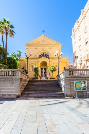 Capuchin brothers church near the Municipal Casino in San Remo, Italy