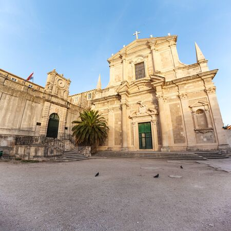 stephen: Church of St. Stephen and the square in front. Dubrovnik. Croatia. Stock Photo
