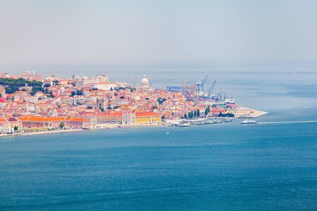 Lisbon panorama from the National Sanctuary of Christ the King