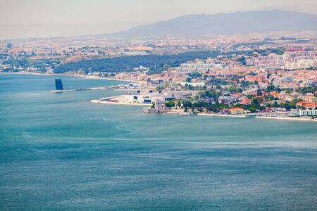 castle district: Lisbon panorama from the National Sanctuary of Christ the King