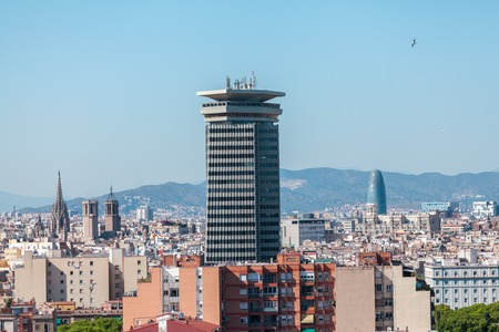 sagrada: Panoramic view of the city of Barcelona