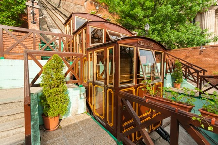Budapest Castle Hill Funicular. Hungary Imagens