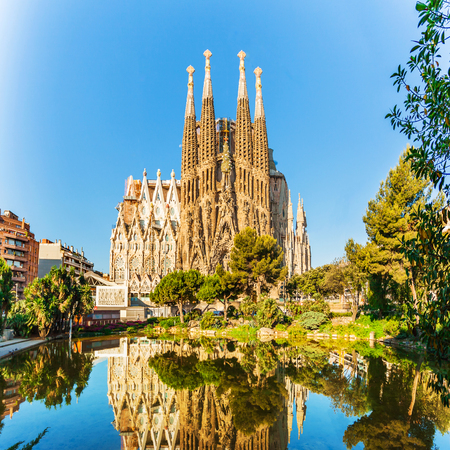 Expiatory Temple of the Holy Family, Sagrada Familia, Barcelona, Spain Reklamní fotografie - 84382366