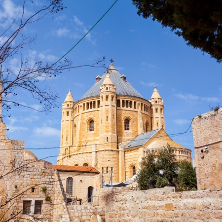 Dormition Abbey church. Old town. Jerusalem. Israel Stock Photo