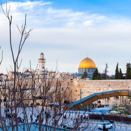 Jews Praying at the Western Wall. Travel to Jerusalem. Israel. Stock Photo