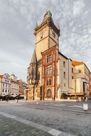 Old Town City Hall in Prague, view from Square. Reklamní fotografie