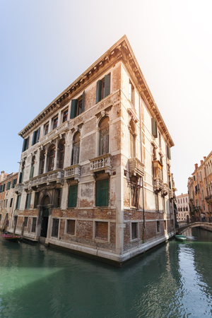 View of Canal in Venice, Italy. Venice is a popular tourist destination of Europe.