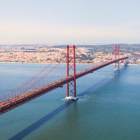 Bridge in Lisbon. Panorama