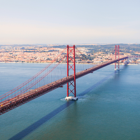 Bridge in Lisbon. Panorama