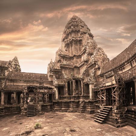 Templo de Angkor Wat. Vista desde el interior del templo